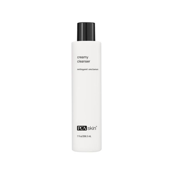Creamy skin cleanser bottle