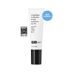 weightless protection broad spectrum SPF 45 for skin protection
