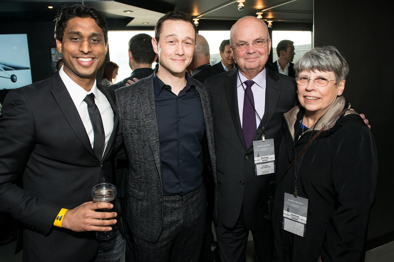 Ankur Jain with Joseph Gordon Levitt and Mike Hayden