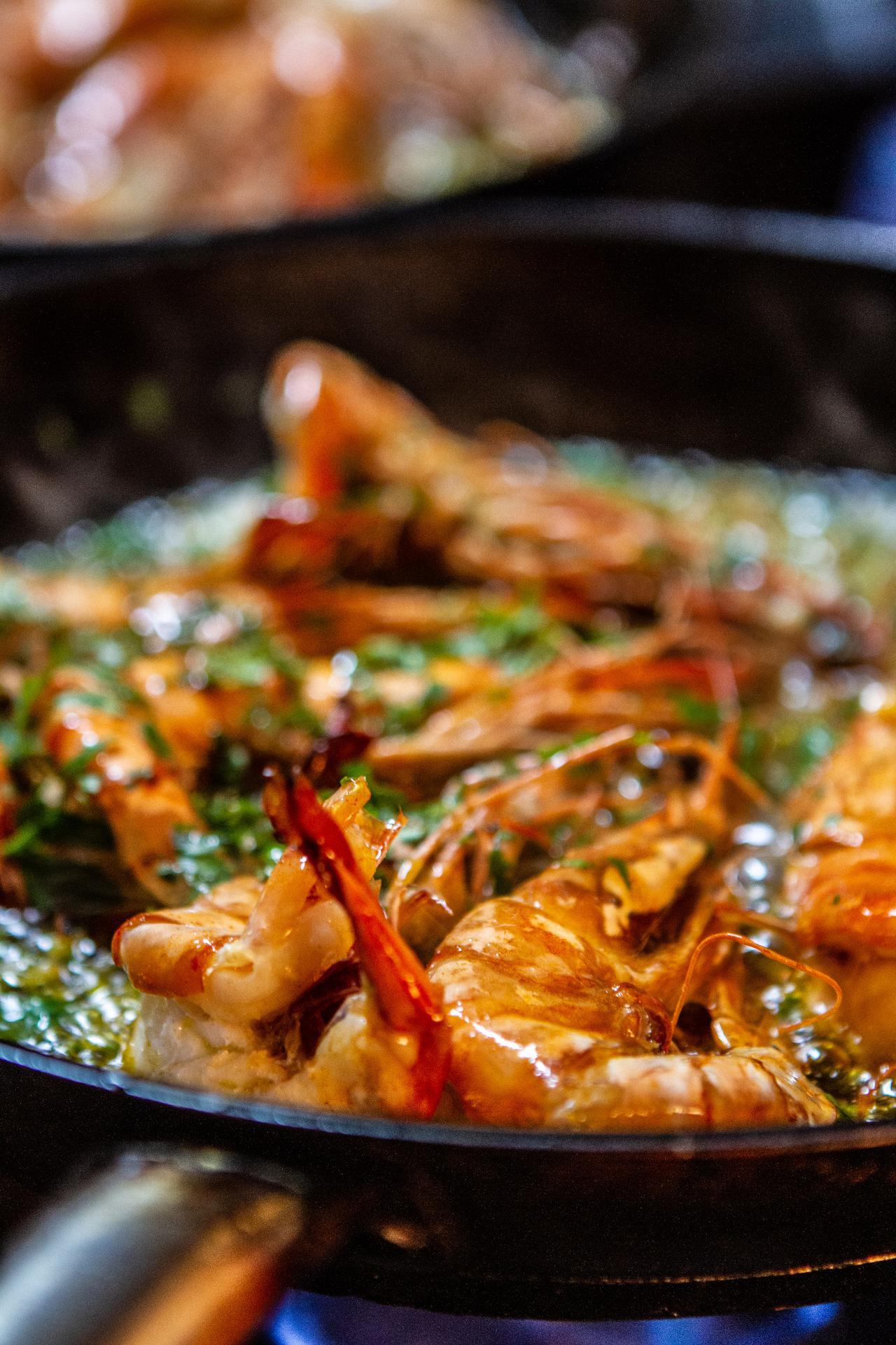 Grilled Garlicky Shrimp