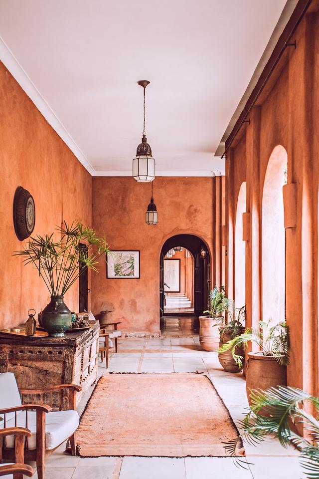 A styled hallway.