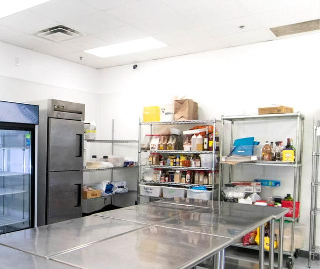 large food prep area for caterers