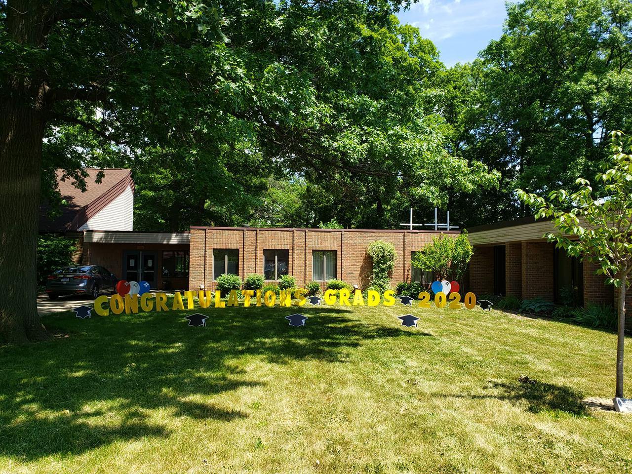 congrats grad custom yard sign decoration