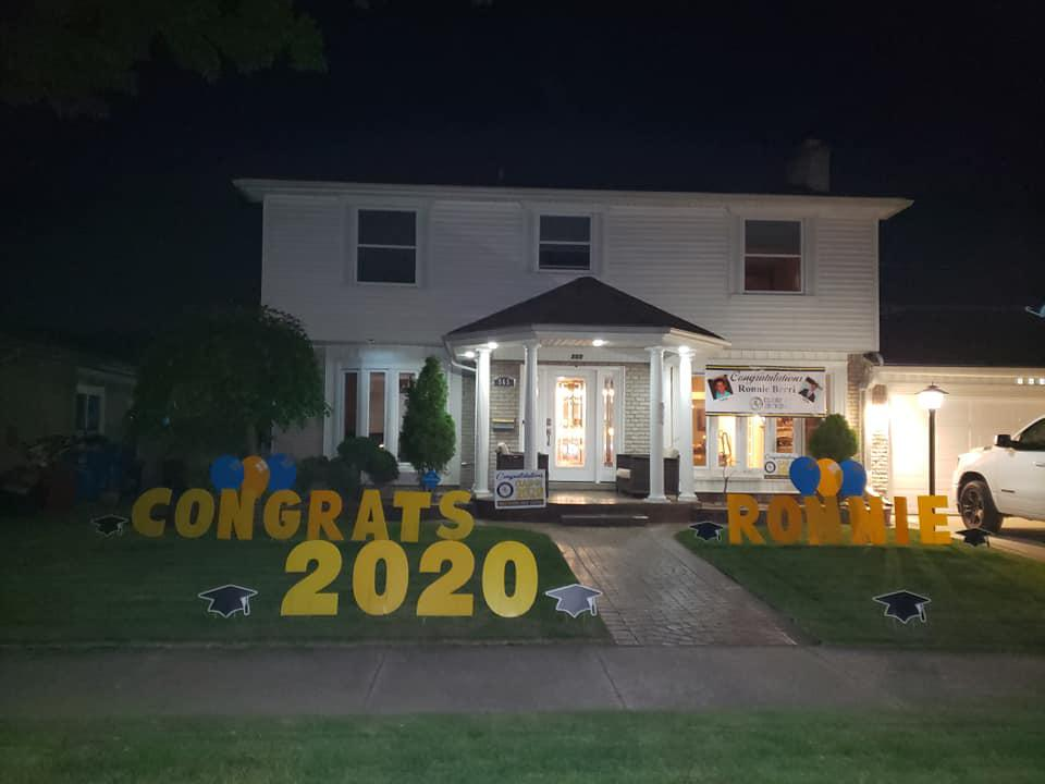 happy graduation custom yard sign decoration