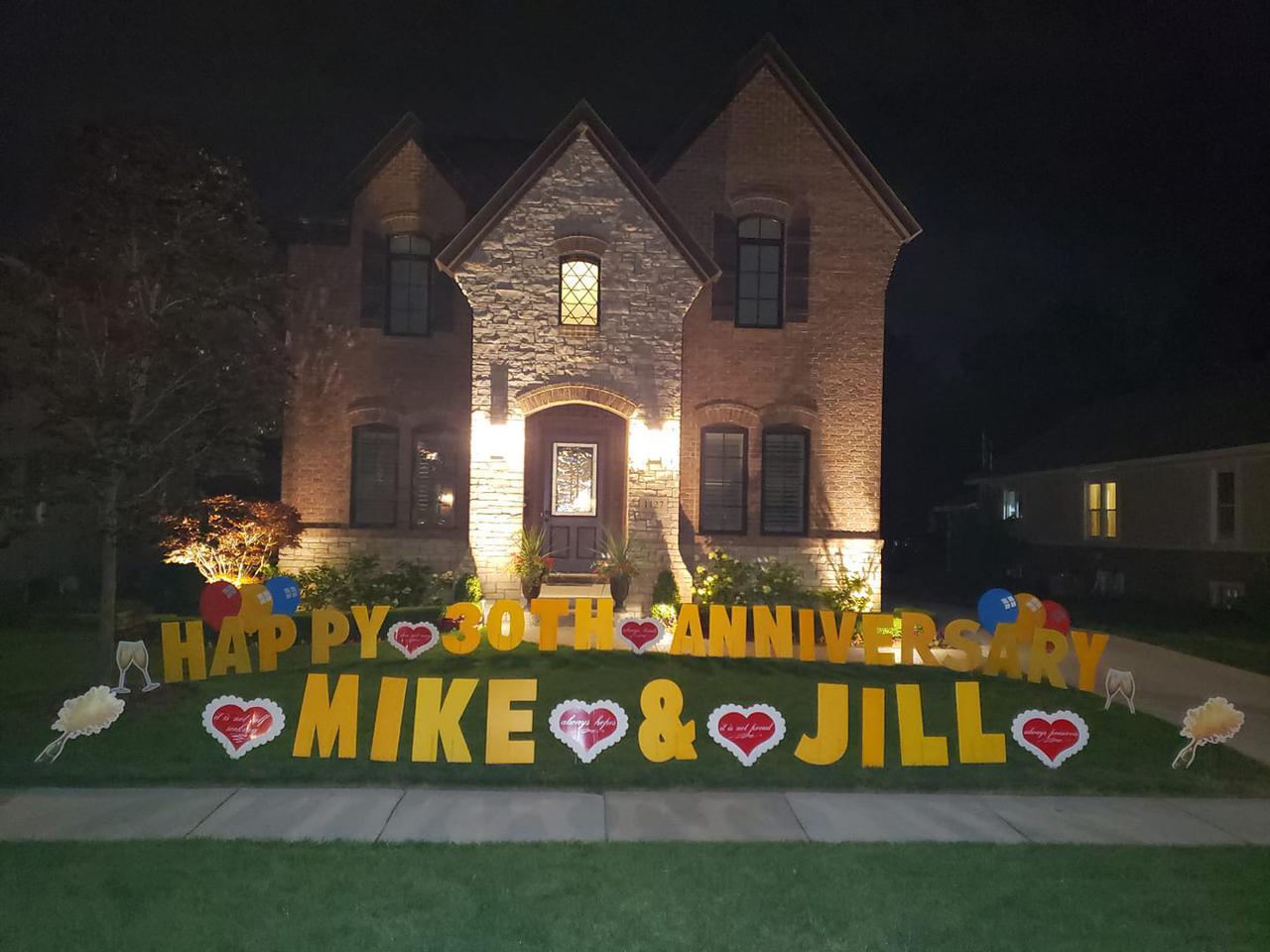 happy anniversary custom yard sign decoration