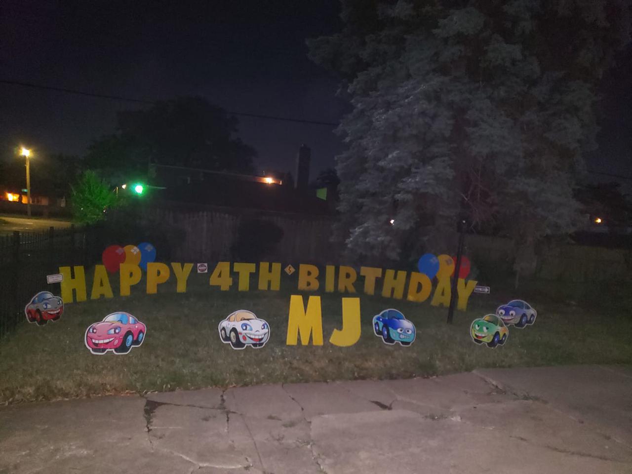 happy birthday custom yard sign decoration