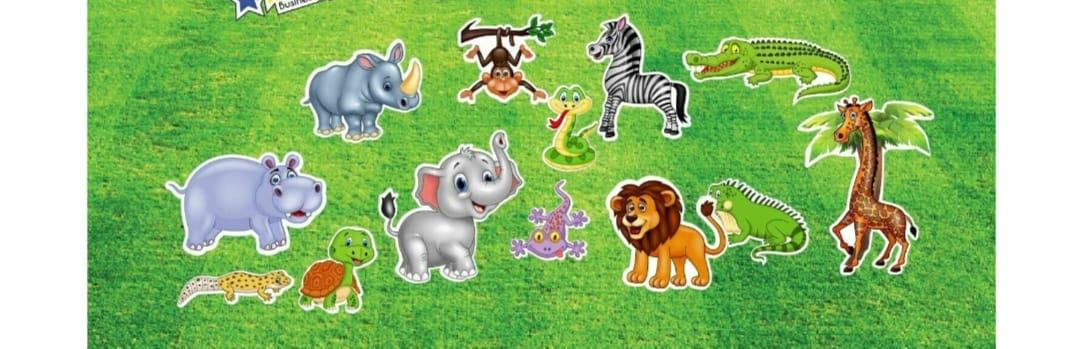 custom themed yard sign with zoo animals