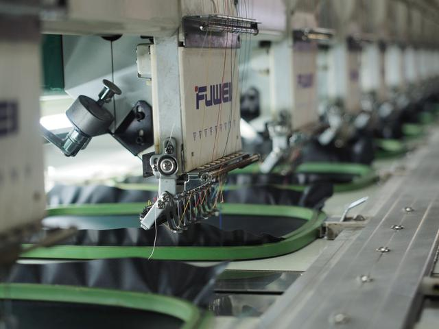 embroidery machine completing orders