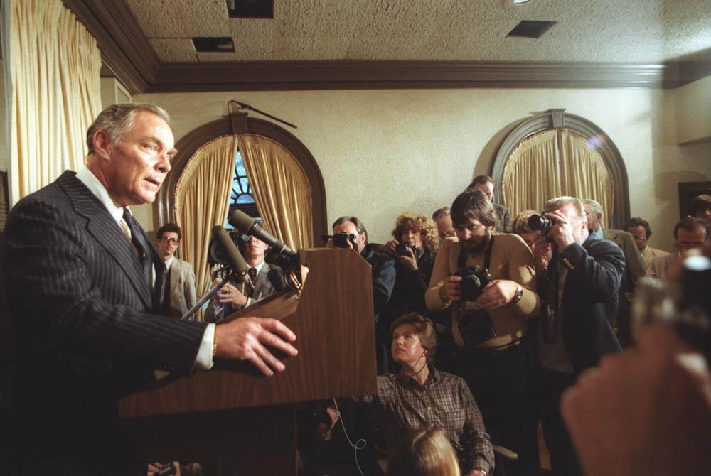 secretary of state al haig speaks to the press about president reagan's condition on march 30, 1981. (wikimedia commons).jpg
