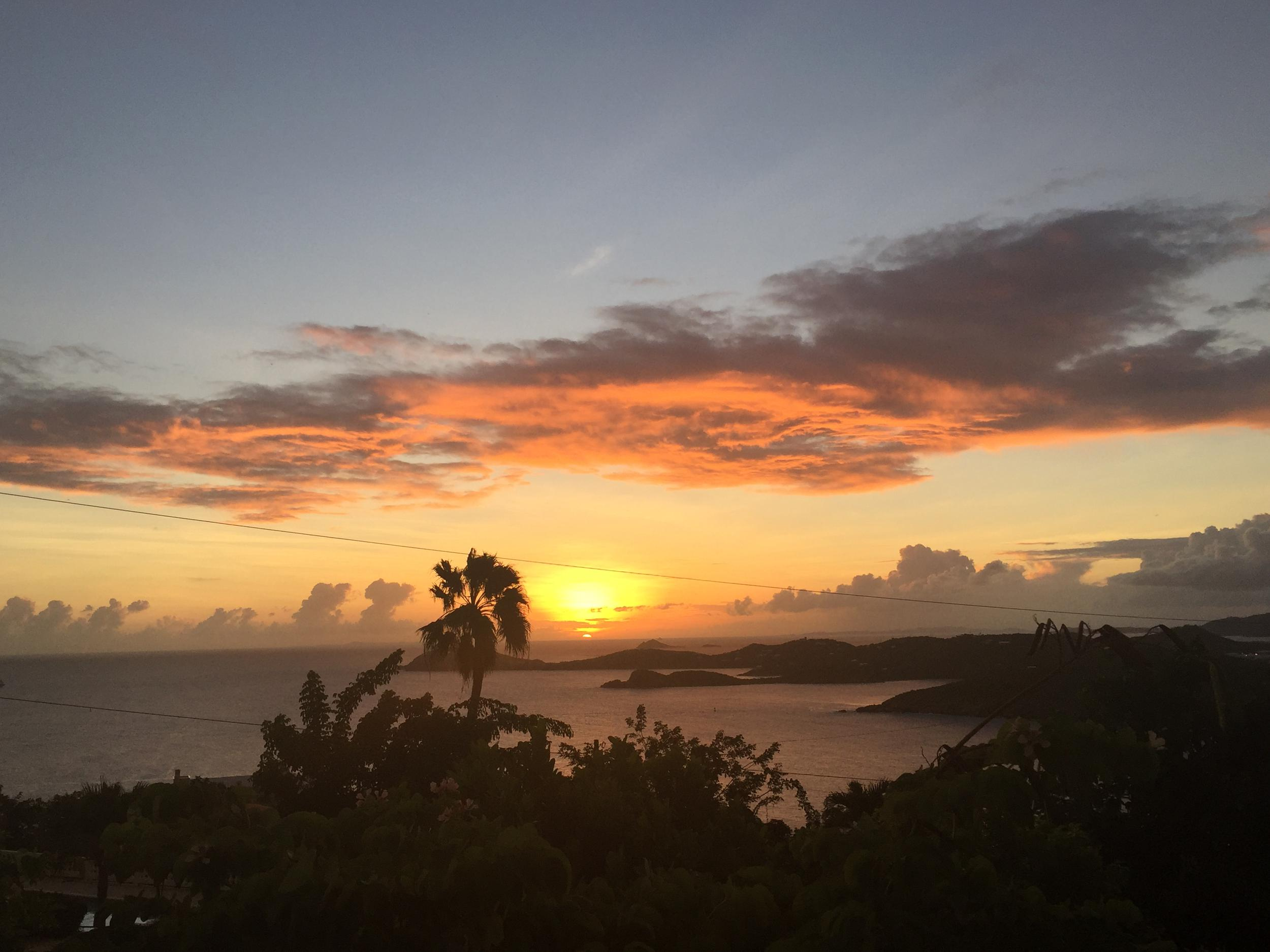 view from serenity overlook wedding venue in st. thomas, usvi