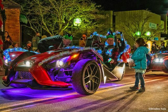 at the Waynesville Christmas Parade Last Night