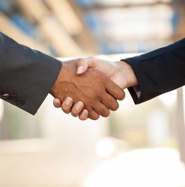 Portrait Handshake