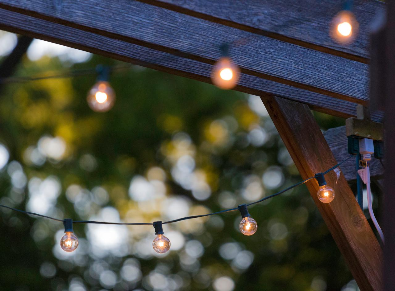 Outdoor lighting, like the kind we install at TTB Design Group.