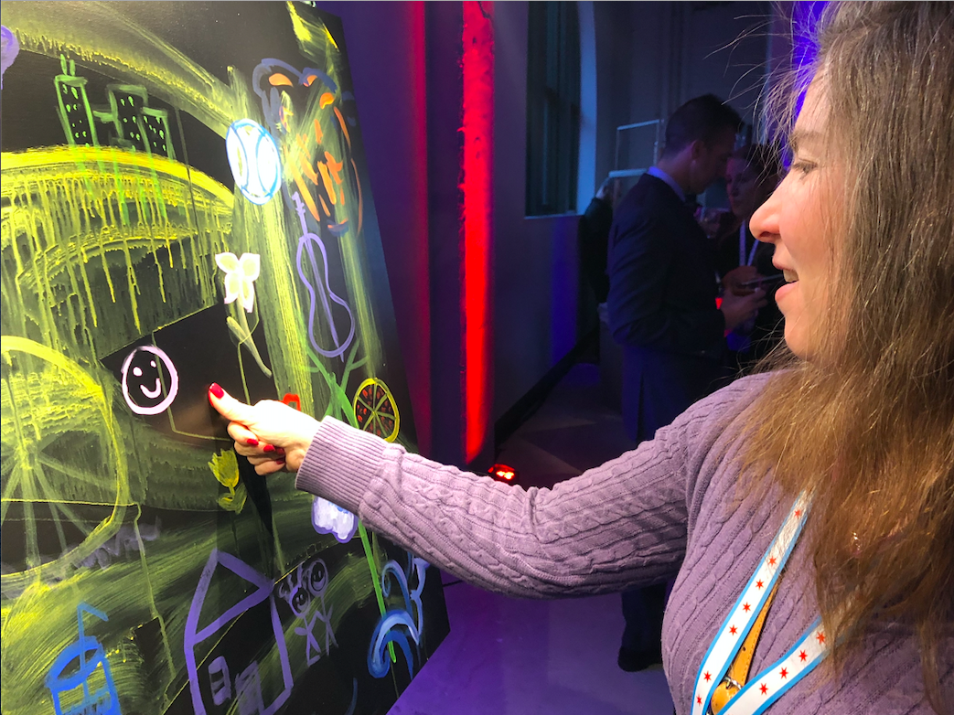 live interactive painting for corporate events