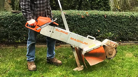 Complex stump grinder in washington state