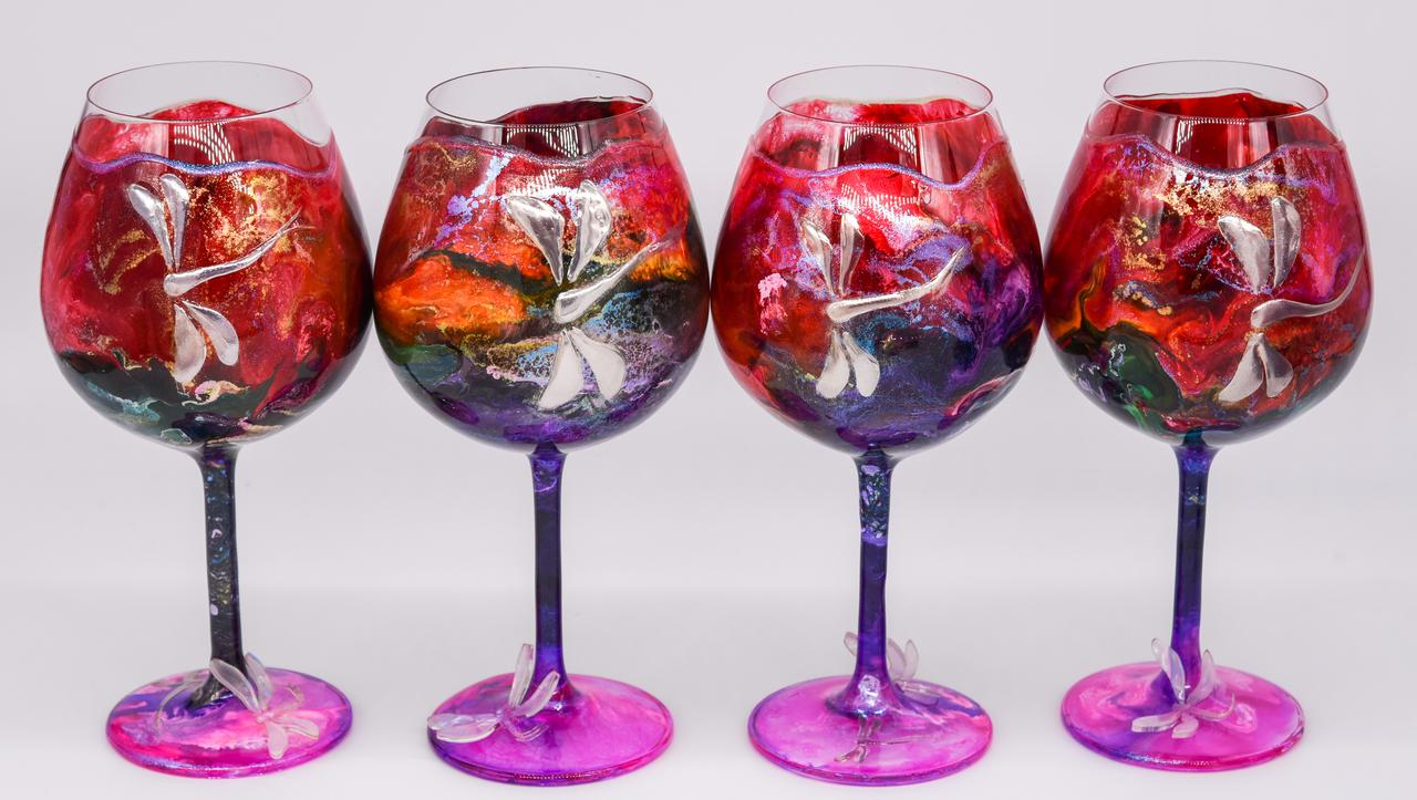 I can create custom painted glasswork for you.
