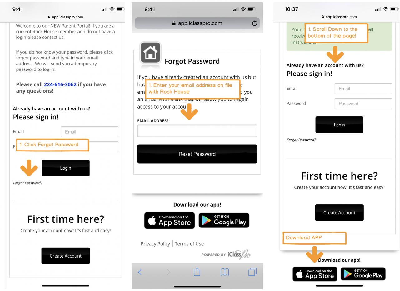 Step 1: Get your account password