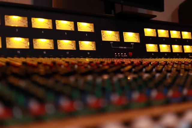 Vintage Analog Mixing Console Trident 80C at Old Fashion Music Studios