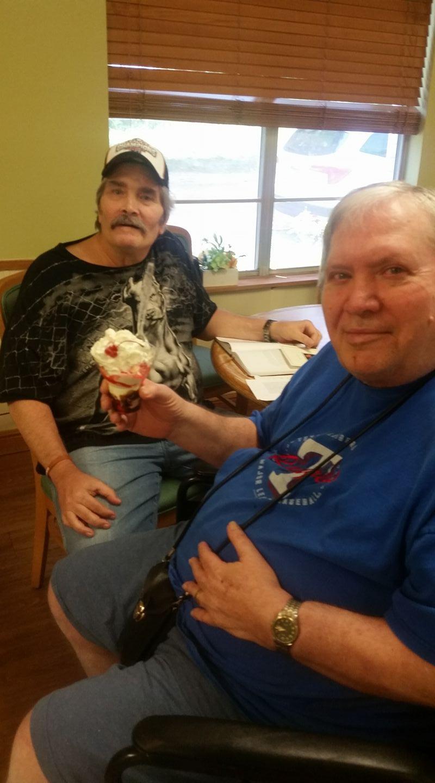 Residents enjoyed a early Father's day celebration with icecream sundays