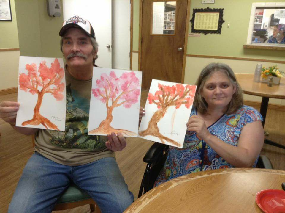 Residents enjoyed an afternoon experimenting with watercolors  As you