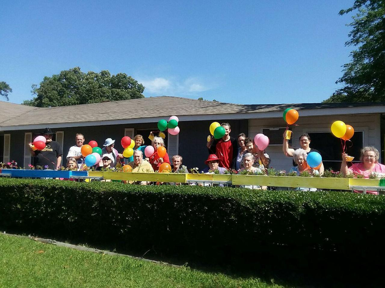 Kicking off National Nursing Home week, with a baloon release