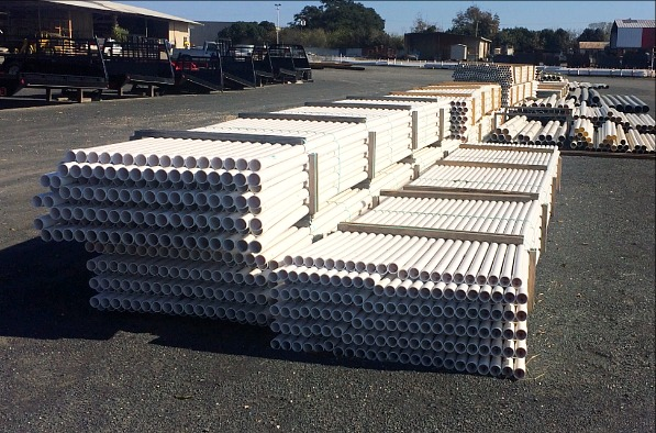 PVC & Black Poly Pipe of Various Sizes for Water Transmission, Water Well Casing, Production Strings, Sewer and Drain Projects, and More