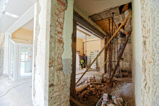 a home renovation taking place in Washington DC