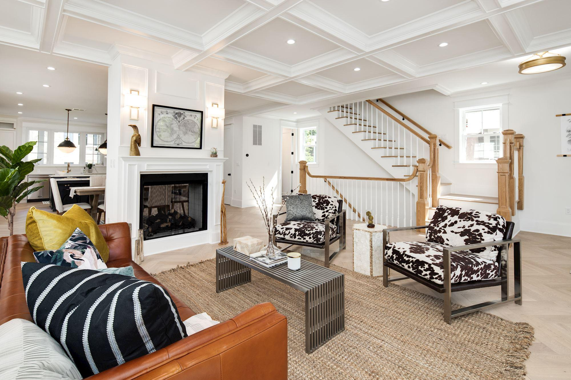 interior home remodeling of a luxury living room