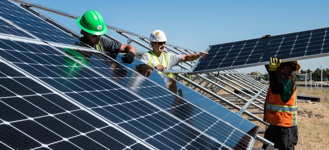 DMV Equity Inc. solar service installers on rooftop