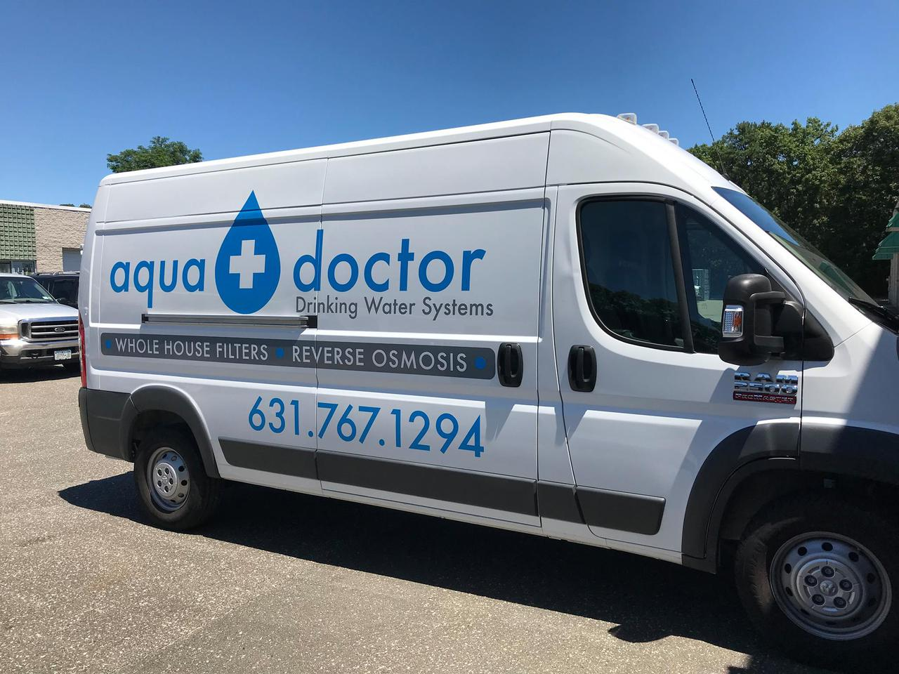 Aqua Doctor Water Filtration and Water Purification Company van