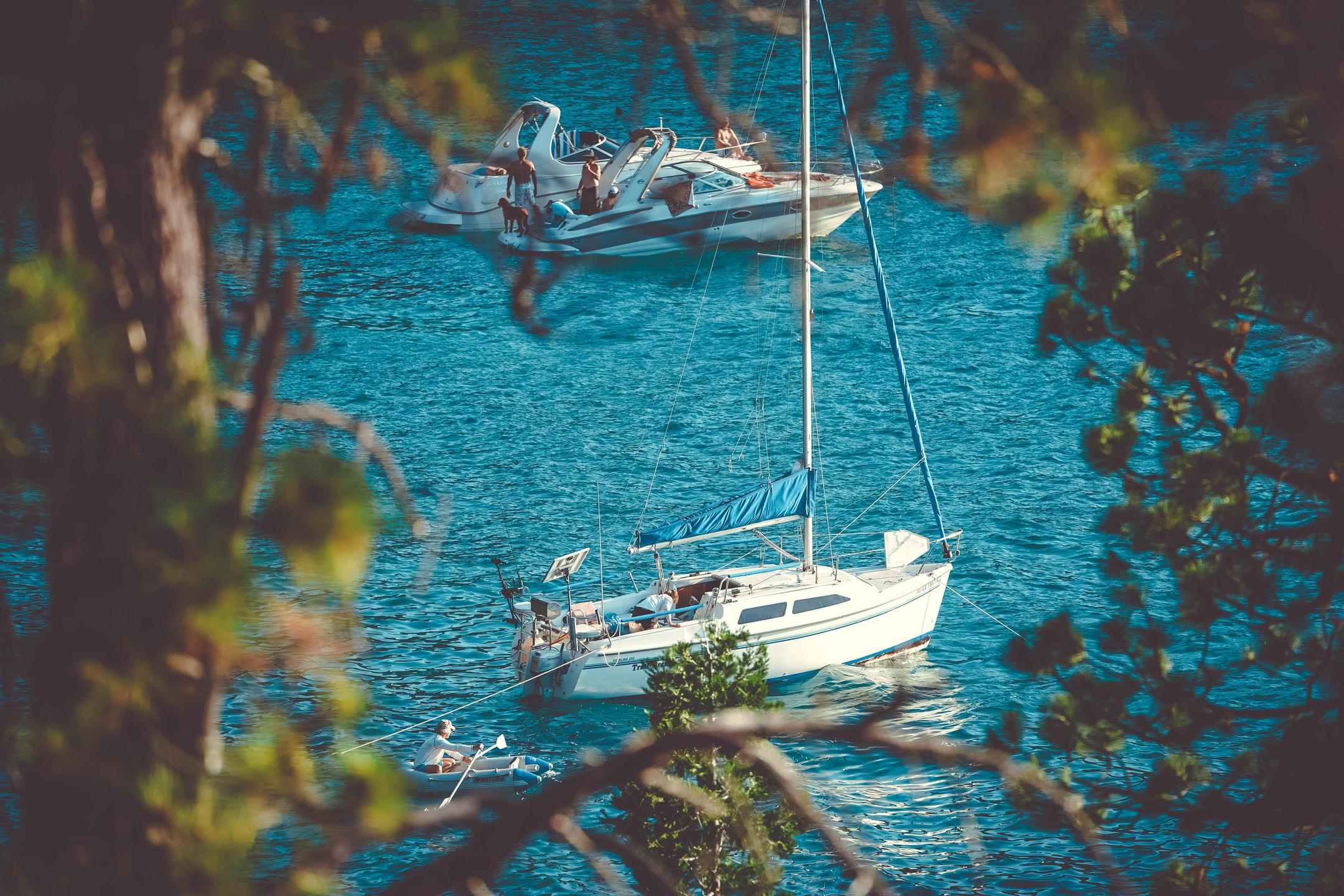 There are plenty of secret coves along the East Shore of Lake Tahoe only accessible by boat, so be sure to ask a local!