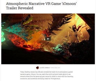 "ATMOSPHERIC NARRATIVE VR GAME ""IOMOON"" TRAILER REVEALED"
