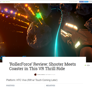 RollerForce Review: Shooter Meets Coaster in This VR Thrill Ride
