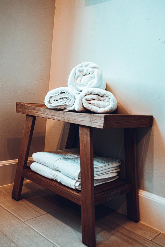 towels provided by a laundry service in Boston