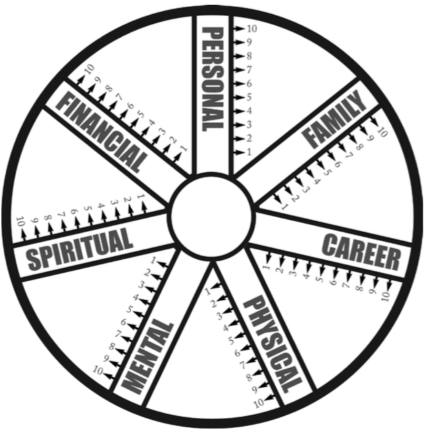 How would you assess yourself on the multiple spokes of the wheel of life?