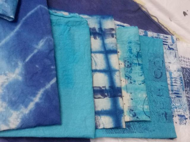 """Participants"""" Hand-crafted"""" Blue Prints"""" on Cotton Cloth"""