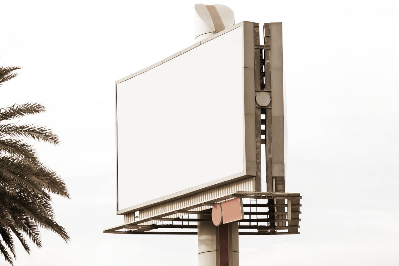 rectangular blank billboard