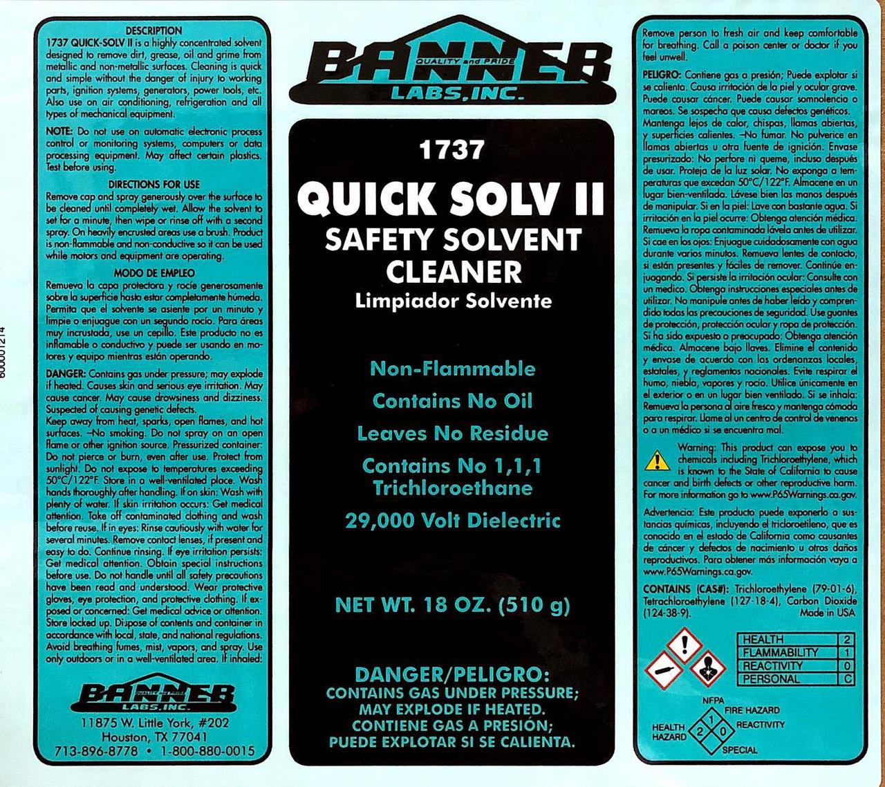 Quick Solv II is a highly concentrated solvent designed to
