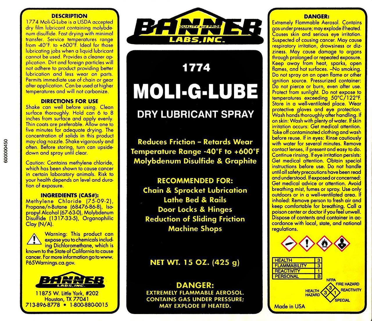 Moli G   Lube is a USDA accepted dry
