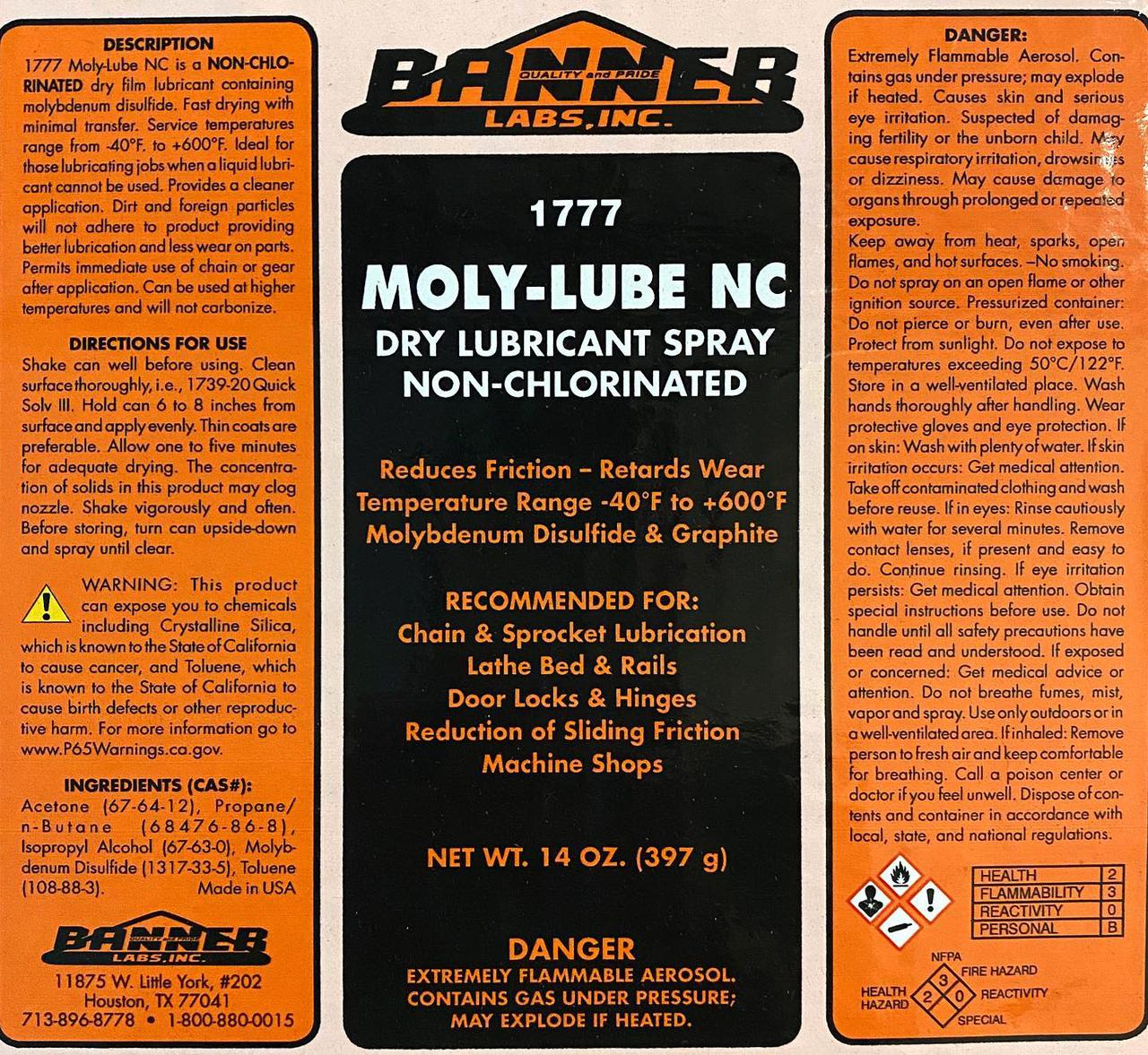 Moly Lube Non Chlorinated