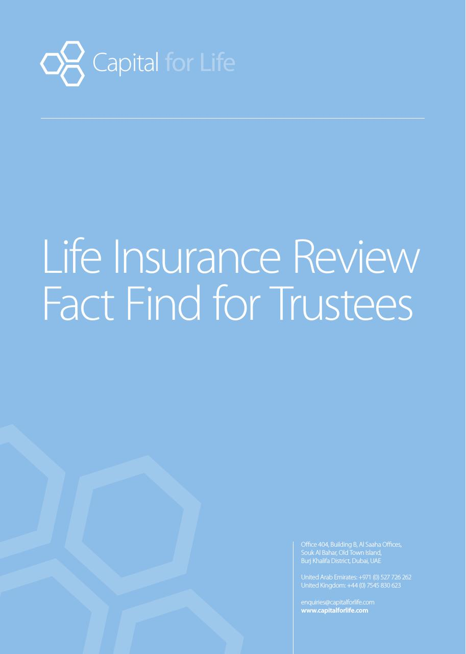 Trustee Life Insurance Policy Review FREE PDF Download