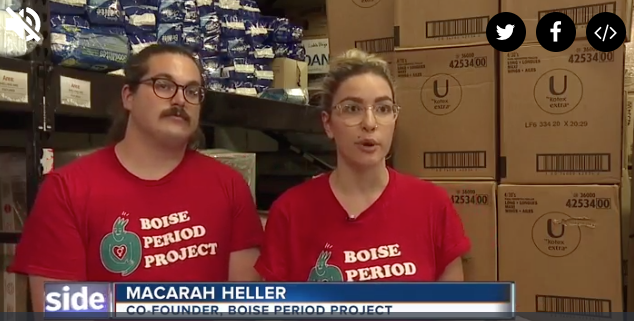 Boise Area Organizations Work to End Period Poverty