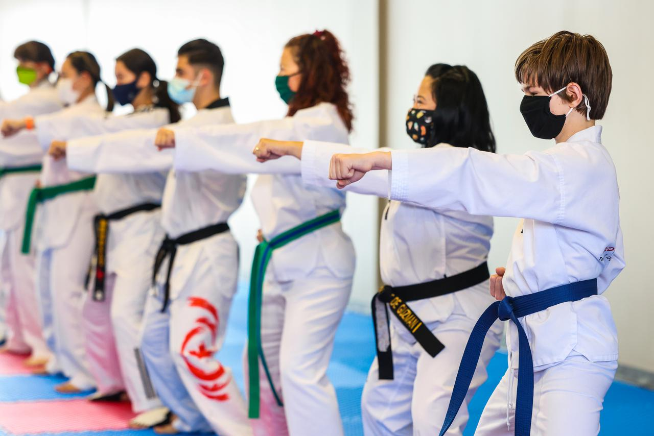teen martials arts class at Red Phoenix