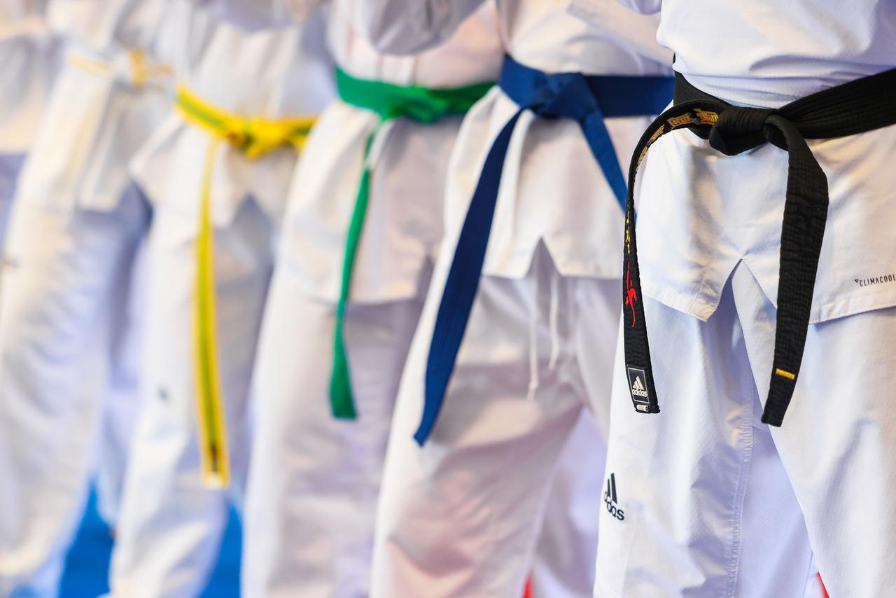 different colord belts for Tae Kwon Do