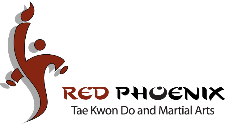 red phoenix tae kwon do and martial arts logo