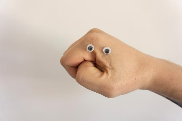 A little funny experiments with hands and eyes