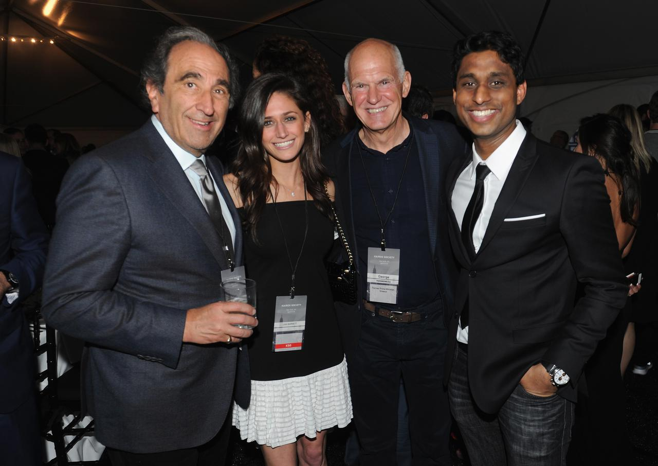 Chairman of NBC News and MSNBC Andrew Lack, Lisa Barnett co-founder of Little Spoon, Former Prime Minister of Greece George Papandreou and Founder and Chairman of Kairos Society Ankur Jain at the Kairos Society Global Summit