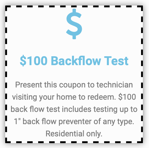 $100 Backflow Test with Economy Plumbing Services