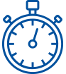 Image of an clock icon to represent AlgoMedica low-radiation CT scans.