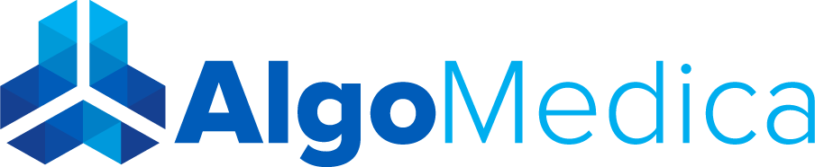 Image of the AlgoMedica logo for deep learning reconstruction technology.